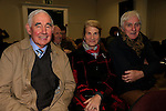'Letters to Aunt Mary' an illustrated lecture by John McCullen in Governor's House, Millmount, pictured Arthur McManus, Sarah McManus and Gerard McManus<br /> Picture: Fran Caffrey www.newsfile.ie
