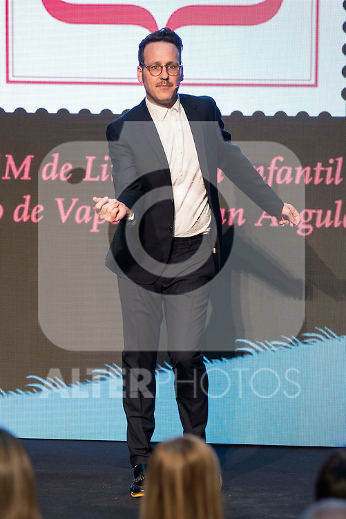 "Host of the ceremony, Joaquin Reyes during the delivery of SM Awards of children's literature ""El Barco de Vapor"" and ""Gran Angular"" at Real Casa de Correos in Madrid. April 19,2016. (ALTERPHOTOS/Borja B.Hojas)"