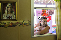 man living  in a house-container of the Municipality of Palermo since seven years, after being  evicted from  home.<br /> Palermo, un uomo vive con la famiglia da circa sette anni in un campo containers del comune di Palermo, dopo avere  subito uno sfratto.