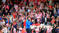 Lincoln City manager Danny Cowley applauds the fans at the final whistle <br /> <br /> Photographer Chris Vaughan/CameraSport<br /> <br /> The EFL Sky Bet League Two - Lincoln City v Morecambe - Saturday August 12th 2017 - Sincil Bank - Lincoln<br /> <br /> World Copyright &copy; 2017 CameraSport. All rights reserved. 43 Linden Ave. Countesthorpe. Leicester. England. LE8 5PG - Tel: +44 (0) 116 277 4147 - admin@camerasport.com - www.camerasport.com