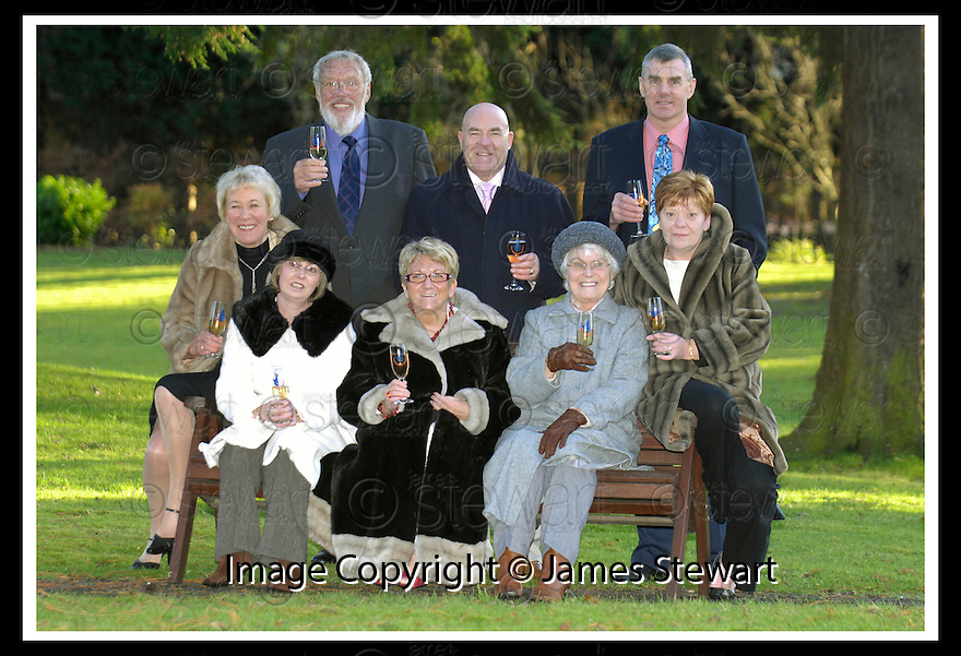 06/12/2006       Copyright Pic: James Stewart.File Name :sct_jspa06_lottery.THE LOTTERY WINNERS ASSEMBLE FOR A PHOTO CALL AT ALLOA....L TO R STANDING : BOB WESTLAND, TOMMY WEBB, CHARLES MACDONALD..L TO R SITTING : ANNE WESTLAND, SANDRA WILLOCKS, MARGARET WEBB, MARTHA WILLOCKS, LIZ MACDONALD....James Stewart Photo Agency 19 Carronlea Drive, Falkirk. FK2 8DN      Vat Reg No. 607 6932 25.Office     : +44 (0)1324 570906     .Mobile   : +44 (0)7721 416997.Fax         : +44 (0)1324 570906.E-mail  :  jim@jspa.co.uk.If you require further information then contact Jim Stewart on any of the numbers above.........