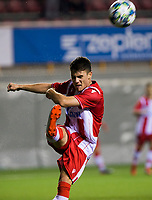 6th November 2019; Vozdovac Stadium, Belgrade, Serbia; UEFA Under 19 UEFA Youth league football, FK Crvena Zvezda under 19s versus Tottenham Hotspur under 19s; Stefan Mitrovic of FK Crvena Zvezda clears the ball out of the area