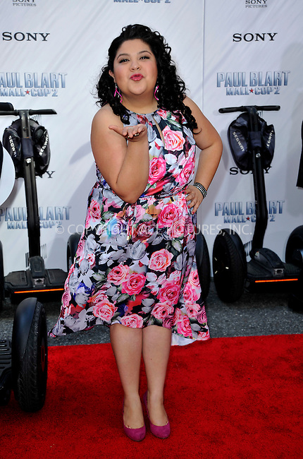 WWW.ACEPIXS.COM<br /> <br /> April 11 2015, New York City<br /> <br /> Raini Rodriguez arriving at the 'Paul Blart: Mall Cop 2' New York Premiere at AMC Loews Lincoln Square on April 11, 2015 in New York City.<br /> <br /> By Line: Curtis Means/ACE Pictures<br /> <br /> <br /> ACE Pictures, Inc.<br /> tel: 646 769 0430<br /> Email: info@acepixs.com<br /> www.acepixs.com