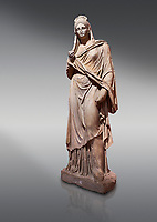 Roman statue of Plancia Magna a prominent woman from Anatolia who lived between the 1st century and 2nd century in the Roman Empire. Marble . Perge. 2nd century AD. Inv no 3459 . Antalya Archaeology Museum; Turkey.