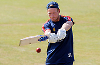 Tom Westley of Essex warms up prior to Essex CCC vs Kent CCC, Bob Willis Trophy Cricket at The Cloudfm County Ground on 3rd August 2020