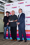20.06.2012. Working Breakfast at the Hotel Santo Domingo with the press within the framework of the ´VII edition of Madrid de Cine-Spanish Film Screenings´.With the presence of Enrique Urbizu, Pedro Perez President of FAPAE and Gonzalo Salazar-Simpson, President of ACS. In which Agustin Almodovar, on behalf of his brother Pedro, received the Award Fapae - Rentrak 2012 at the Spanish Film Major International Impact ´La piel que Habito (The Skin That Habit). In the image  Enrique Urbizu, Agustin Almodovar and Pedro Perez (Alterphotos/Marta Gonzalez)