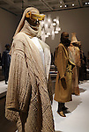 """March 15, 2016, Tokyo, Japan - Creations of Japanese fashion designer Issey Miyake are displayed at a press preview of his exhibition """"The Work of Miyake Issey"""" at the National Art Center in Tokyo on Tuesday, March 15, 2016. Over 100 creations of Issey Miyake are exhibited at the museum from March 16 through June 13.  (Photo by Yoshio Tsunoda/AFLO) LWX -ytd-"""