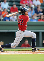 Outfielder Justin Gominsky (22) of the Lexington Legends, a Houston Astros affiliate, in a game against the Greenville Drive on July 19, 2012, at Fluor Field at the West End in Greenville, South Carolina. Greenville won, 11-10 in 15 innings. (Tom Priddy/Four Seam Images)