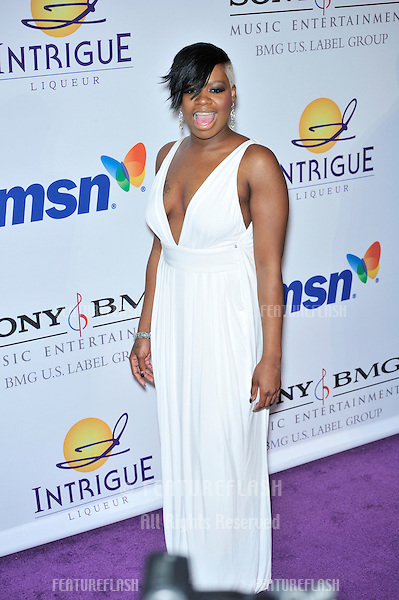 Fantasia Barrino at music mogul Clive Davis' annual pre-Grammy party at the Beverly Hilton Hotel..February 9, 2008  Los Angeles, CA.Picture: Paul Smith / Featureflash