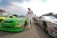 Jul. 4, 2008; Daytona Beach, FL, USA; NASCAR Sprint Cup Series driver Kyle Busch during qualifying for the Coke Zero 400 at Daytona International Speedway. Mandatory Credit: Mark J. Rebilas-