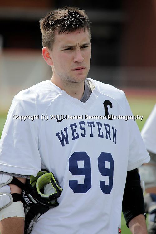 Western lacrosse's Cody Bludorn (#99) plays in their 15-10 victory over Central Sunday April 10, 2010. Photo by Daniel Berman