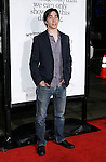 """HOLLYWOOD, CA. - October 20: Actor Justin Long arrives at the Los Angeles Premiere of """"Zack And Miri Make A Porno"""" at Grauman's Chinese Theater in Hollywood, California."""