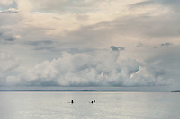 July 30, 2012 - Koh Rong (Cambodia). Tourists swim in the main beach of Koh Rong island. © Thomas Cristofoletti / Ruom