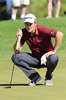 Justin Rose (ENG) at the 3rd green during Friday's Round 2 of the 2018 Turkish Airlines Open hosted by Regnum Carya Golf &amp; Spa Resort, Antalya, Turkey. 2nd November 2018.<br /> Picture: Eoin Clarke | Golffile<br /> <br /> <br /> All photos usage must carry mandatory copyright credit (&copy; Golffile | Eoin Clarke)