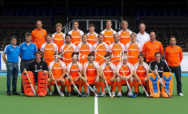 AMSTELVEEN - Teamfoto. Selectie Nederlands Hockey Team heren. FOTO KOEN SUYK