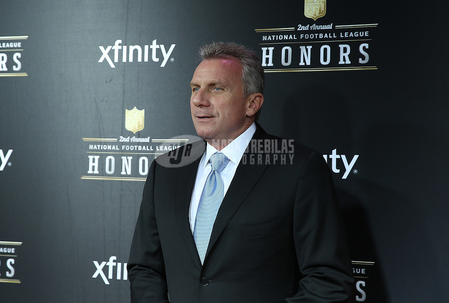 Feb. 2, 2013; New Orleans, LA, USA: San Francisco 49ers former quarterback Joe Montana walks the red carpet prior to the Super Bowl XLVII NFL Honors award show at Mahalia Jackson Theater. Mandatory Credit: Mark J. Rebilas-USA TODAY Sports