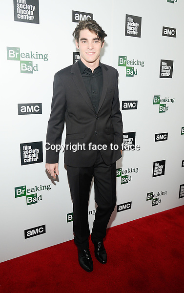 RJ Mitte attend The Film Society Of Lincoln Center And AMC Celebration Of 'Breaking Bad' Final Episodes at The Film Society of Lincoln Center, Walter Reade Theatre in New York, 31.07.2013.<br />