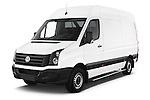 2014 Volkswagen CRAFTER 2.0TDI 4 Door Cargo Van Angular Front stock photos of front three quarter view