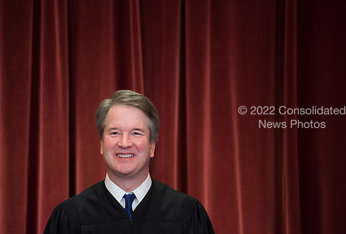 Associate Justice of the Supreme Court Brett Kavanaugh poses during the official Supreme Court group portrait at the Supreme Court on November 30, 2018 in Washington, D.C. <br /> Credit: Kevin Dietsch / Pool via CNP