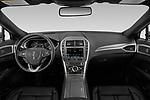Stock photo of straight dashboard view of 2020 Lincoln MKZ Standard 4 Door Sedan Dashboard