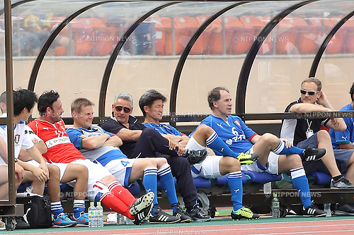 (L-R) Salvatore Schillaci, Angelo Colombo, Roberto Baggio (ITA), Kazuyoshi Miura (JPN), Franco Baresi (ITA),<br /> Japan-Italy Legend Match between J League Legend Players 2-2 Glorie AZZURRE at National Stadium, Tokyo, Japan. (Photo by Motoo Naka)