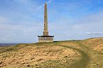Historic Lansdowne monument, Cherhill, Wiltshire, England, UK