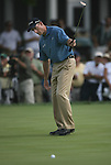 6 September 2008:   Jim Furyk sinks a putt on the ninth hole in the third round of play at the BMW Golf Championship at Bellerive Country Club in Town & Country, Missouri, a suburb of St. Louis, Missouri. Furyk was the leader after the conclusion of round two with a score of 62.  After the first nine holes of the 18-hole third round, Furyk was 11 under-par.  The BMW Championship is the third event of the Fed Ex Cup and the top 30 finishers will qualify for the next event of the championship.