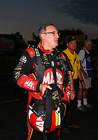 Sep 2, 2017; Clermont, IN, USA; NHRA top fuel driver Doug Kalitta during qualifying for the US Nationals at Lucas Oil Raceway. Mandatory Credit: Mark J. Rebilas-USA TODAY Sports
