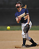 Addie Jackson #38, Massapequa pitcher, delivers to the plate in the top of the sixth inning of a Nassau County varsity softball game against East Meadow at Berner Middle School on Monday, Apr. 25, 2016. Massapequa won by a score of 6-4.