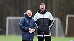 RALEIGH, NC - MARCH 13: Head coach Paul Riley (ENG) (left) with goalkeeping coach Nathan Thackeray (ENG) (right). The North Carolina Courage held their first ever training session on March 13, 2017, at WRAL Soccer Center in Raleigh, NC to start their preseason before the 2017 NWSL Season. Prior to its offseason relocation the team was known as the Western New York Flash.