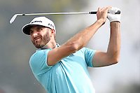 February 16, 2017: Dustin Johnson during the first round of the 2017 Genesis Open played at Riviera Country Club in Pacific Palisades, CA.