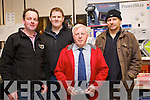 Paddy Cotter (Duagh) Ger Breen (Tralee) Timmy Counihan (TC) and Ned Keane (Listowel) pictured at Kellihers Electrical, Ballymullen, Tralee open day on Thursday last.