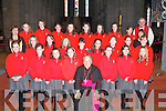 Holy Cross NS pose with Bishop Bill Murphy after they were Confirmed in St Mary's Cathedral on Friday   Copyright Kerry's Eye 2008