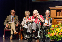 Retired professor Bob Winter receives an honorary degree at the morning meeting of the Fifty Year Club on Sunday, June 22, 2014.<br /> Photo by Don Milici, Freelance