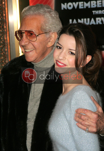 Mr. Blackwell and Masiela Lusha<br />