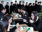 Baku - Azerbaijan - 08 December 2014 -- Azerbaijan State Marine Academy. -- Dinner time in the cantine. -- PHOTO: Sitara Ibrahimova / EUP-IMAGES