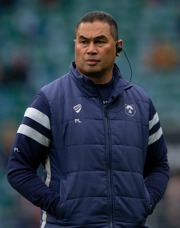 Bristol Bears' Head Coach Pat Lam<br /> <br /> Photographer Bob Bradford/CameraSport<br /> <br /> Gallagher Premiership - Bath Rugby v Bristol Bears - Saturday 6th April 2019 - The Recreation Ground - Bath<br /> <br /> World Copyright © 2019 CameraSport. All rights reserved. 43 Linden Ave. Countesthorpe. Leicester. England. LE8 5PG - Tel: +44 (0) 116 277 4147 - admin@camerasport.com - www.camerasport.com