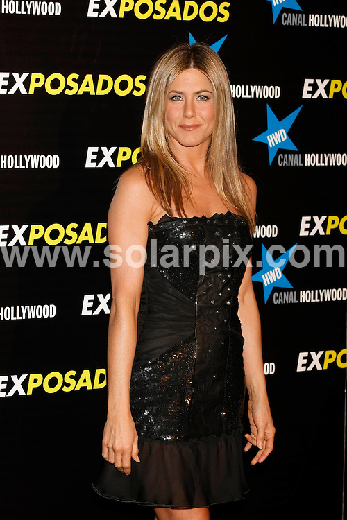 **ALL ROUND PICTURES FROM SOLARPIX.COM**.**UK SYNDICATION RIGHTS ONLY**.Arrivals for the gala screening of the new film The Bounty Hunter aka Exposados in Spanish. Madrid, Spain. 30 March 2010...This pic: Jennifer Aniston..JOB REF: 11015 SKX      DATE:  30_03_2010.**MUST CREDIT SOLARPIX.COM OR DOUBLE FEE WILL BE CHARGED**.**MUST NOTIFY SOLARPIX OF ONLINE USAGE**.**CALL US ON: +34 952 811 768 or LOW RATE FROM UK 0844 617 7637**