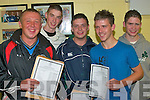Looking forward to celebrating their leaving results on Wednesday morning were Michael Stack, Glin Paul Brouder, Ballyhahill, Michael Thornton, Ballyhahill, Lee Fleming Glin and James Fitzgerald, Ballyhahill...   Copyright Kerry's Eye 2008