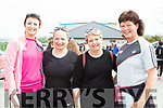 Brid O'Connor, Stella O'Shea, Karen Duggan and and Caroline Kennedy at the fundraising walk in aid of Roisin Collins with her family at the walk in Farranfore on Saturday