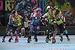 NELSON, NEW ZEALAND June 29: Roller Derby, Nelson Sirens Of Smash v Dunedin Bonnie Brawlers, Nelson Roller Rink, Nelson, June 29, 2019, (Photos by Barry Whitnall/Shuttersport Limited)