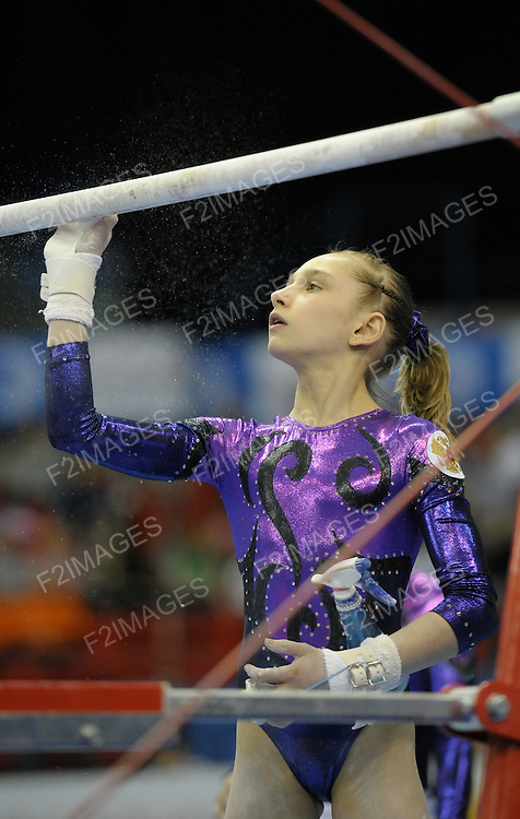 European Gymnastics Championships .Junior Individual Finals.<br /> <br /> Photos by Alan Edwards. Victoria Komova of Russia.
