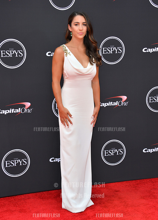 Aly Raisman at the 2018 ESPY Awards at the Microsoft Theatre LA Live, Los Angeles, USA 18 July 2018<br /> Picture: Paul Smith/Featureflash/SilverHub 0208 004 5359 sales@silverhubmedia.com