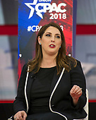 Ronna Romney McDaniel, Chair, Republican National Committee, speaks at the Conservative Political Action Conference (CPAC) at the Gaylord National Resort and Convention Center in National Harbor, Maryland on Friday, February 23, 2018.<br /> Credit: Ron Sachs / CNP
