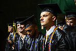 Nicholas Snook participates in spring undergraduate commencement. Photo by Ben Siegel