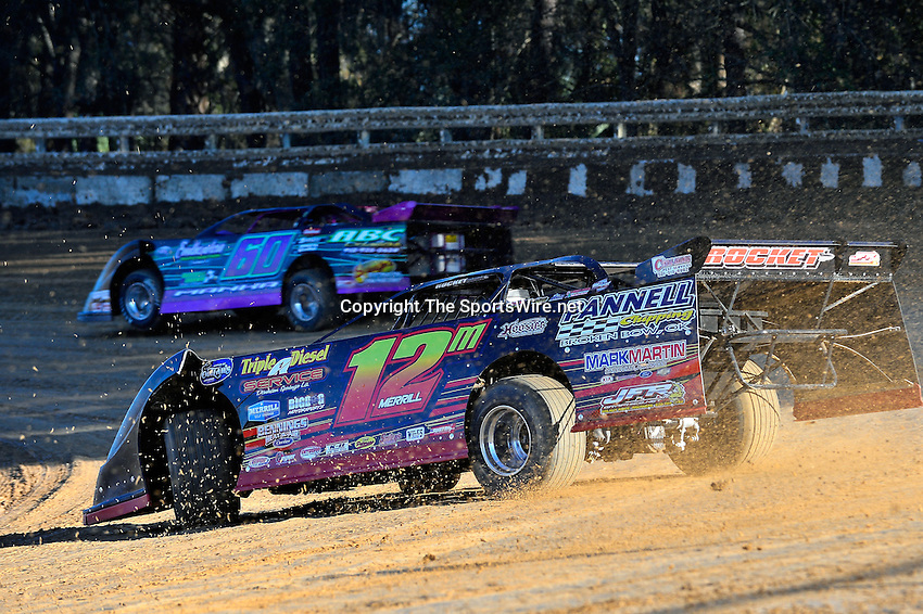 Feb 16, 2014; 4:38:52 PM; Ocala, FL., USA; The Third Annual Bubba Army Winter Nationals World Of Outlaws Super Late Models paying $12,000 to win at Bubba RaceWay Park.  Mandatory Credit: (thesportswire.net)