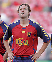 Real Salt Lake's Carey Talley (3) during introductions in the Real Salt Lake 2-1 win over Kansas City Wizards at Rice Eccles Stadium in Salt Lake City, Utah May 20, 2006