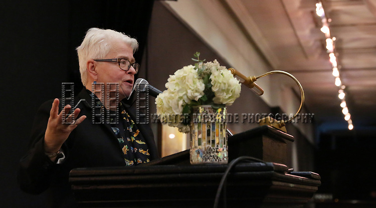 Paula Vogel attends The Vineyard Theatre's Emerging Artists Luncheon at The National Arts Club on November 9, 2017 in New York City.