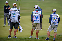 The law firm of Johnson, Hoffman, and Kuchar watch on 9 during Round 2 of the Valero Texas Open, AT&amp;T Oaks Course, TPC San Antonio, San Antonio, Texas, USA. 4/20/2018.<br /> Picture: Golffile | Ken Murray<br /> <br /> <br /> All photo usage must carry mandatory copyright credit (&copy; Golffile | Ken Murray)