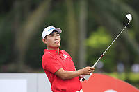 Sunghoon Kang (Asia) on the 2nd tee during the Singles Matches of the Eurasia Cup at Glenmarie Golf and Country Club on the Sunday 14th January 2018.<br /> Picture:  Thos Caffrey / www.golffile.ie